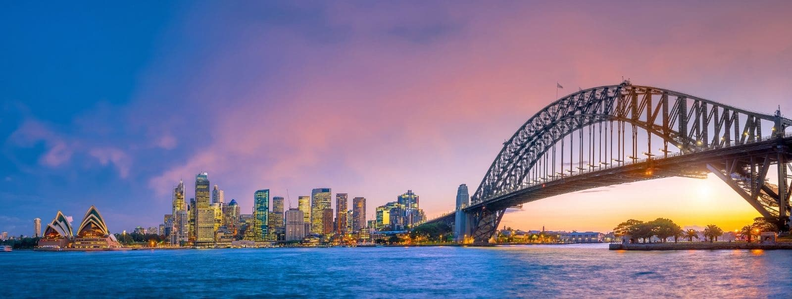 Sydney Harbour and Must See Sydney Landmarks including Opera House, city and Harbour Bridge
